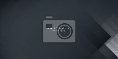 Plakat  Dark black neutral abstract background for presentation design