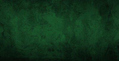 Plakat Dark green gradient watercolor background