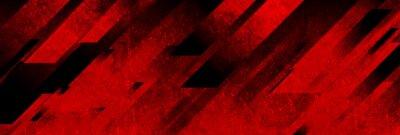 Plakat Dark red grunge stripes abstract banner design. Geometric tech vector background