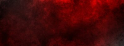 Plakat dark saturated black magic background with red fog