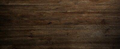 Plakat Dark wood background, old black wood texture for background