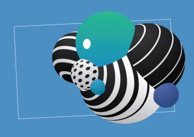 decorative spheres textured geometric pattern