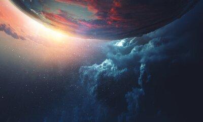 Plakat Deep space beauty. Planet orbit.