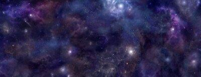 Plakat Deep Space niebieskie tło