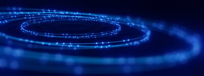 Plakat defocused image of  fiber optics lights abstract background