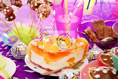 Plakat Dekoracja Stołu Urodziny Ze Słodyczami Dla Dziecka Na Wymiar