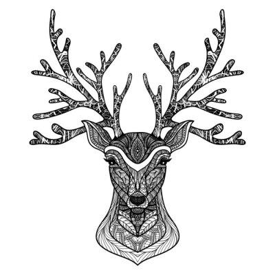 Plakat Dekoracyjne Deer Portret