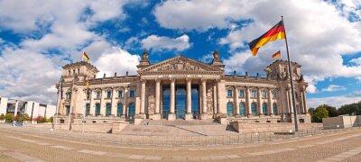 Plakat Der Deutsche Bundestag im Berliner Reichstagsgebäude