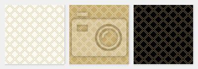 Plakat Deseniowy bezszwowy przekątna kwadrata tła abstrakcjonistycznego złocistego luksusowego geometrycznego wektor.