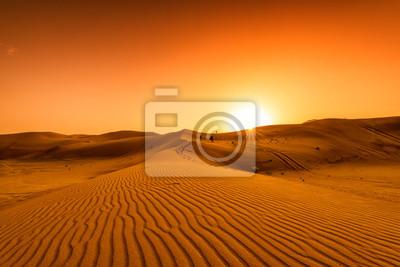Plakat Desert, sunset in desert, desert in Dubai
