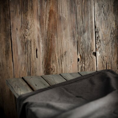 desk of free space and wooden wall background