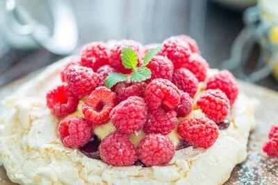 Plakat Desser z malinami, Lemon Curd i Strawberry Jam