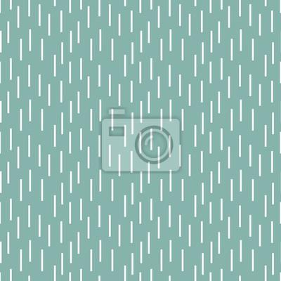Plakat Deszcz kształtuje malutkiego błękitnego retro bezszwowego wektoru wzór. Geometryczne powtarzające się tło.