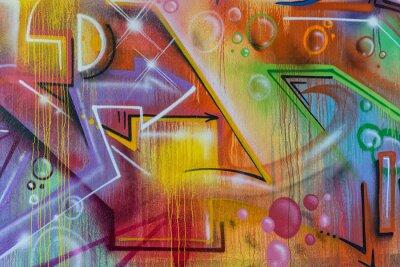 Plakat detal graffiti malarstwo