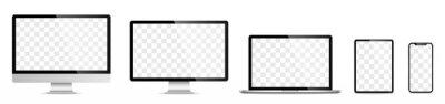 Plakat Device screen set - laptop smartphone tablet computer monitor. Vector