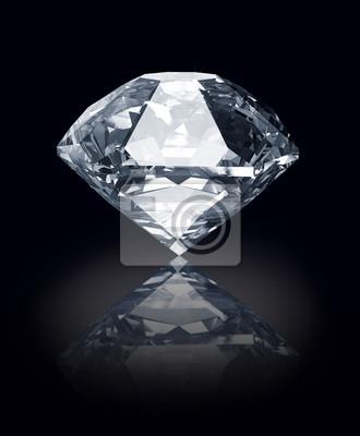 diamentu na ciemnym tle