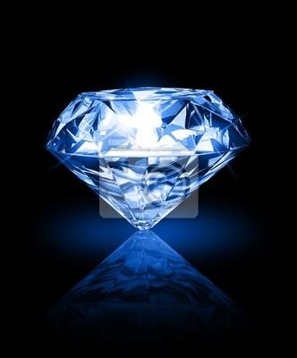 Plakat diamentu na ciemnym tle