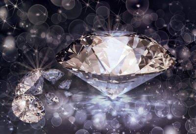diamenty i światła bokeh