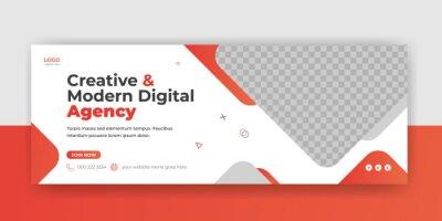 Plakat Digital marketing agency webinar facebook cover banner  Instagram web banner template social media post