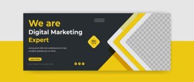 Plakat Digital Marketing webinar facebook cover banner template social media post