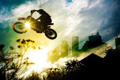Plakat Dirt Bike Jump miejskiego