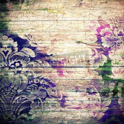 Plakat Dla sztuki, projektowania tekstury i rocznika grunge papieru lub rama,