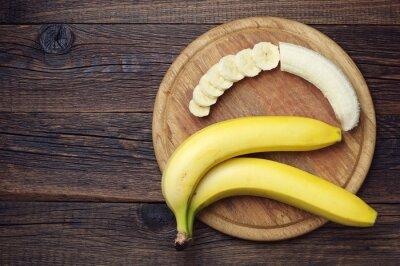 Plakat Dojrzałe banany i krojone