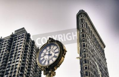 Plakat Dół widoku budynków w Nowym Jorku