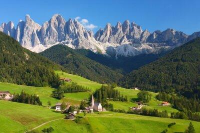 Plakat Dolomity w Alpach europejskich