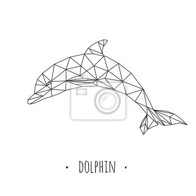 Dolphin stylizowany trójkątny wzór