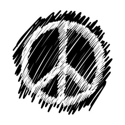 Plakat doodles of peace symbol