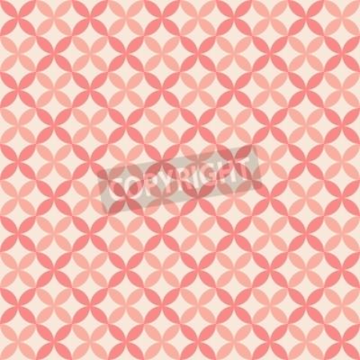 Plakat Dość pastelowe wektor szwu (płytki, z próbką). Kompletne tekstura może być stosowany do tapety, wypełnienie internetowej tła, tekstury. Streszczenie słodkie ozdoby. Czerwone i różowe kolory.