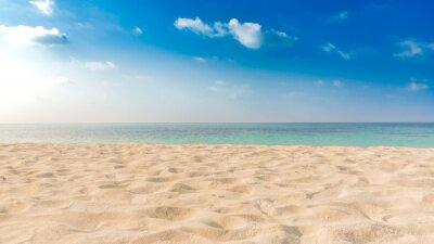 Plakat Doskonałe tropikalnej plaży krajobraz. Tło wakacje wakacje