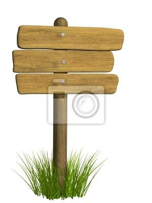 Drewniana tablica z trzech płyt