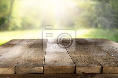 Plakat drewniane biurko