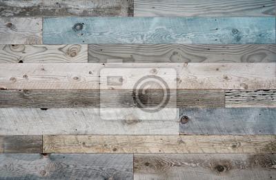 Plakat Drewniane deski na ścianie lub podłodze z ziarnem i fakturą.