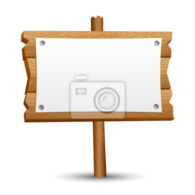 Plakat Drewniane pusty znak