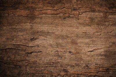 Plakat Drewno gnije z drewnianymi termitami, Starego grunge zmrok textured drewnianym tłem powierzchnia stara brown drewniana tekstura