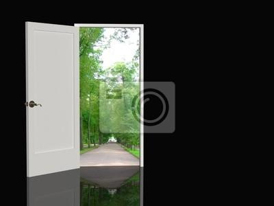 Drzwi otwarte w rzeczywistym świecie