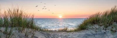 Plakat Dune beach panorama at sunset