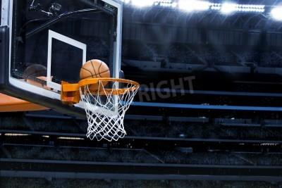 Plakat Duża arena koszykówki z miejsca na kopię
