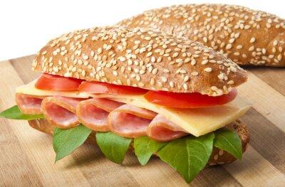Duży apetyt fast food podłużnymi wielowarstwowe