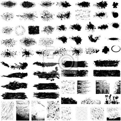 Plakat Duży zestaw grunge tekstury