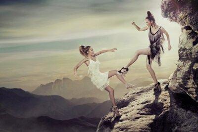 Plakat Dwie kobiety walczące