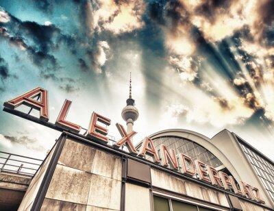 Plakat Dworzec kolejowy Alexanderplatz w Berlinie - Niemcy