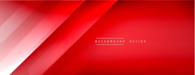 Plakat Dynamic lines abstract background. 3D shadow effects and fluid gradients. Modern overlapping forms