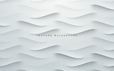 Plakat Dynamic wavy light and shadow gray background