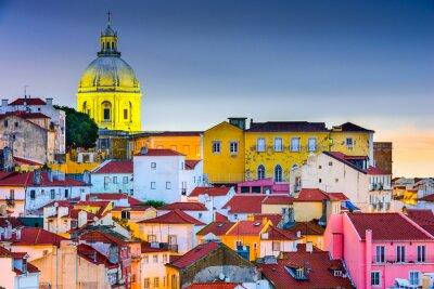 Plakat Dzielnica Alfama w Lizbonie, Portugalia