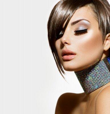 Plakat Dziewczyna Beauty Fashion. Gorgeous Portret Kobiety