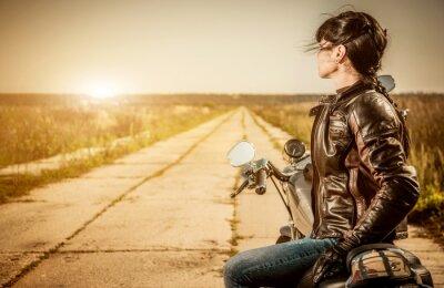 Plakat Dziewczyna Biker